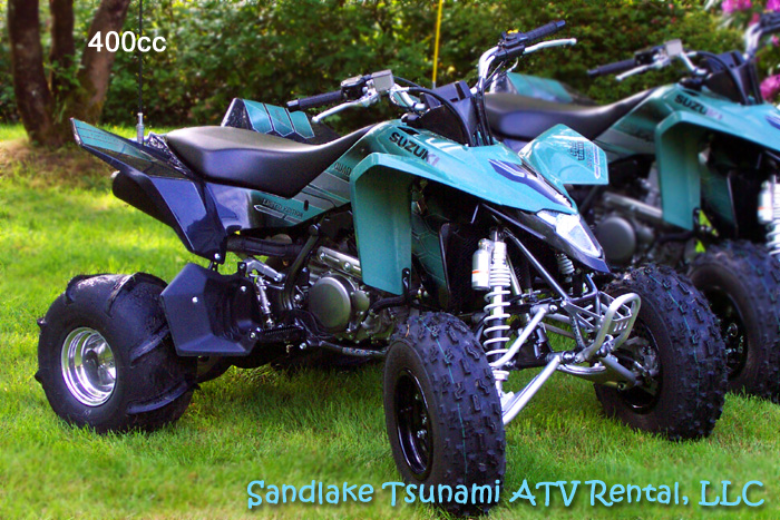 400cc LTZ-400 Suzuki Quadsport Quad with Sand Dune Paddles - Ready to ride on the Oregon Coast